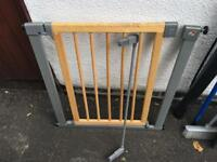Mothercare Child Safety gate. Wood/grey.