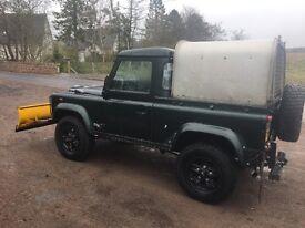 Land Rover Defender TD5 90 pick up 4x4 diesel snow plough