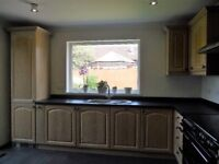 Kitchen (complete set of units with appliances). Howdens Limed Oak for sale in excellent condition.