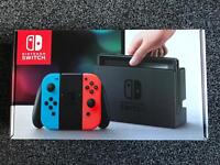 Nintendo Switch Neon Red and Blue Brand New With Receipt