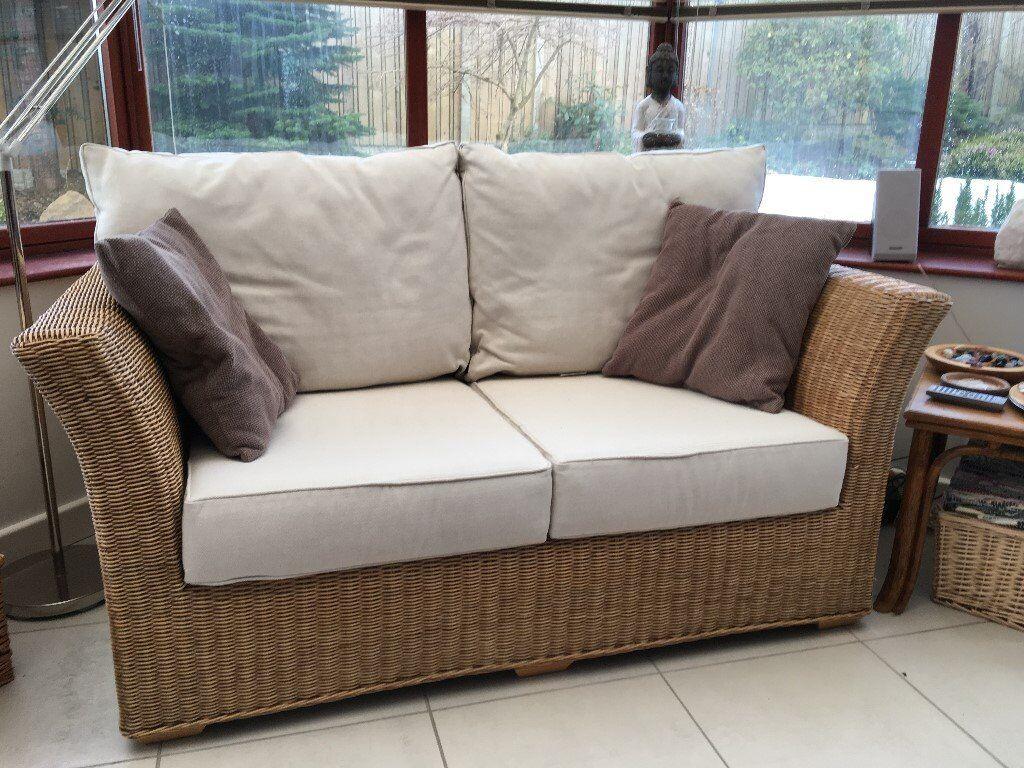 Rattan 2 Seat Conservatory Sofa