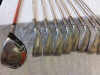 PING G10 IRONS 4=SW PLUS HYBRID WOOD STAND BAG AND PUTTER