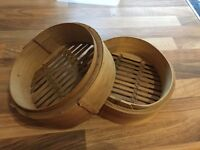 Chinese bamboo steamer