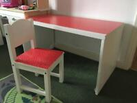IKEA Small Table with Chair Polka Dot