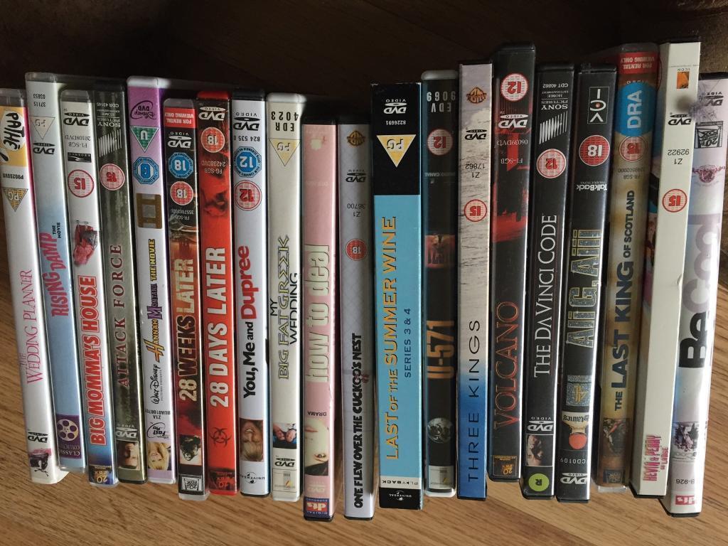 20 DVD's various