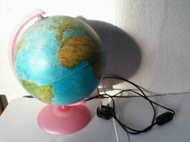 Globe with electric light