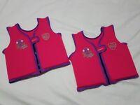 2x Speedo Girls' Sea Squad Float Vest Float Jacket Pink