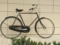Vintage Raleigh Dutch bike / Tourist DeLuxe / Brooks Seating