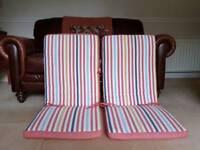 Pair of Ikea garden chair cushions