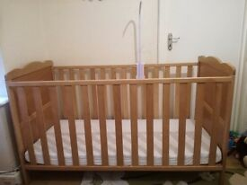 Cot convert into bed