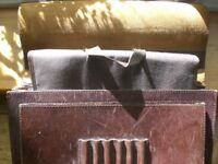 Man's shoulder bag in heavy brown leather