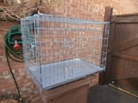 extra large dog cages 2 doors folds flat when not used