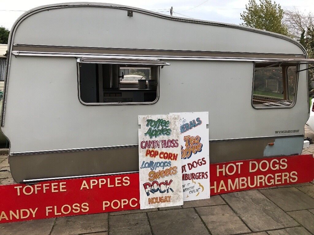 Vintage catering trailer/ tearoom/ market stall/ cafe/ stand/ business project! Converted caravan