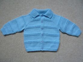 Cardigan / jacket - baby boy, brand new, hand knitted