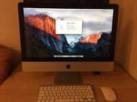Apple iMac 21.5 inch 2.5GHZ i5 8GB DDR3 500GB HDD with wireless Apple keyboard and Mice