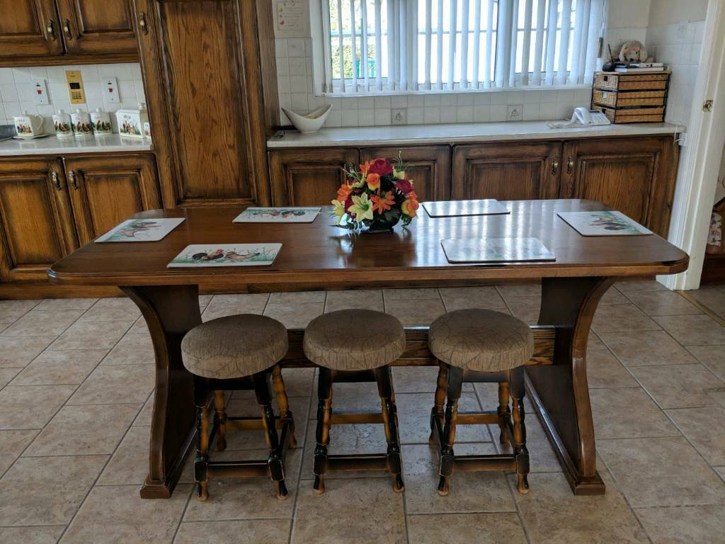 Remarkable Large Table And 3 Stools Bench Seating To Go With In Limavady County Londonderry Gumtree Onthecornerstone Fun Painted Chair Ideas Images Onthecornerstoneorg