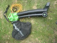 FLORABEST LEAF BLOWER VACUUM FLB 3000 A1 WITH BAG WHEELED MODEL FULL INSTRUCTIONS SELDOM USED