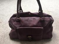 Boden Purple Leather handbag
