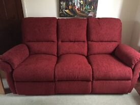 Three seater manual recliner and two seater manual recliner sofas
