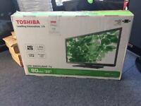 "Boxed toshiba 32"" hd freeview led tv"
