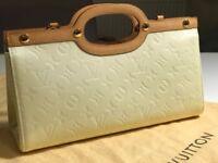 Louis Vuitton Perle Monogram Vernis Roxbury Drive Bag Handbag Clutch Tote