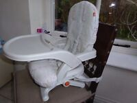 Portable travel high chair / booster seat with tray
