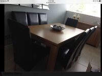 Solid oak furniture living/dining room set