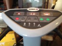 Gadget fit vibration plate , powerful machine like new with pulse recorder and arm pullers
