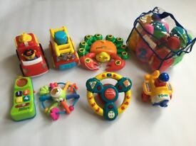 Large bundle of Kids Toys including Tomy, elc etc - fire engine skittles phone
