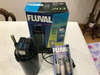 Fluval 203 Aquarium External Filter. For 200/ 40gal Aquariums. Used.