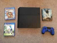 PS4 with three games, two controllers and original box