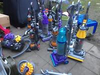 JOB LOT OF 11 DYSON VACUUM CLEANERS DC07 ALL WORKING