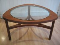 Stylish Original Vintage / Retro Lozenge Shaped Teak Coffee Table from 1960s - Excellent condition