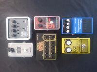 Various Guitar Effects Pedals, Palmer Pocket Amp and an Artec Power Brick