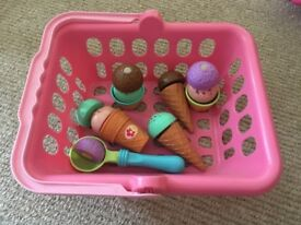Kids plastic ice cream set