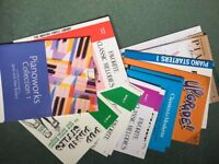 14 completely unused piano books to widen the repertoire from 0 to Grade 3.