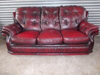 Oxblood Chesterfield 3-1-1 Leather Suite