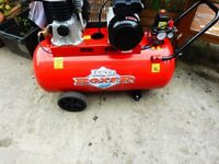 CLARKE 3HP COMPRESSOR WITH 100LTR TANK WITH REGULATOR