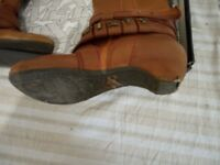 Pre-owned women's brown leather Miss Sixty boots - with box - size 37/4
