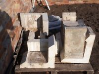 Stone coloumb pieces. Suit small letter bix or similar. Or spairs for repair works.