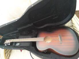 Unused Tanglewood Crossroads Electro Acoustic Folk Guitar with New Hard foam case