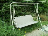 Garden Swing Seat - metal frame with cushion - PRICE DROP! £25 Has to go!
