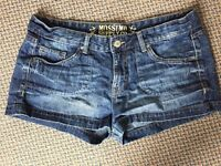 2 pair women's jean shorts - size 14/16