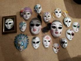 16 porcelain masks excellent condition