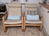 2 poang ikea rocker chairs