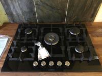 Bosch 5 burner gas hob with wok style central burner ( cooker )