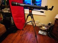 Celestron Astro master 70 telescope, in perfect condition. comes with tripod