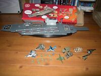 aircraft carrier planes jeeps tank soldiers helicopters light and sounds