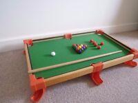 Vintage Pot Black Snooker Table for Kids