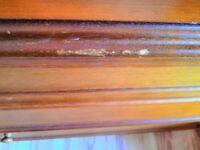 Mohogany 3-drawer dressing table